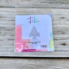 Tutti Designs Thin Metal Die - Christmas Word Tree - Tutti-354