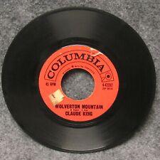 45 RPM Record Claude King Wolverton Mountain Little Bitty Heart Columbia 4-42352