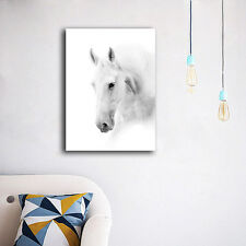 70×100×3cm White Horse Canvas Prints Framed Wall Art Home Decor Painting Gift