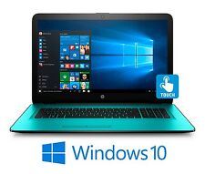 "HP 15 15.6"" Touchscreen Laptop i7-7500U 2.7GHz 12GB 2TB DVDRW WiFi BT W10 Teal"