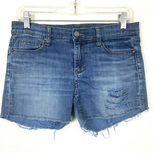 DKNY Denim Jean Shorts Women's Size 2 Distressed Ripped Frayed