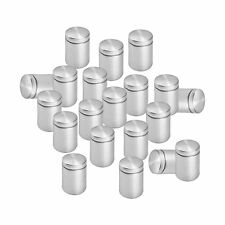 Lantee 20 Pcs Silver Tone Stainless Steel 19 x 30mm Standoff Hardware for Glass