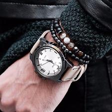 Pair of Black Matte Titanium & Natural Onyx Bead Bracelets Pulseiras Masculina