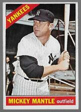 1966 Topps #50 Mickey Mantle, New York Yankees Baseball Card, HOF, Condition EX