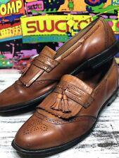 Allen Edmonds BRADENTON Loafers Size 15 C Brown Leather Fringe Tassel Dress Shoe