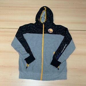 NBA USA Hoodie Mens Medium M Grey Hooded Full Zip Up Logo