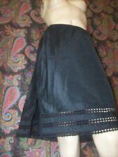 Vintage Black Lacy Swishy Taffeta A-line Half Slip Lingerie
