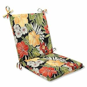 """Pillow Perfect Outdoor/Indoor Clemens Noir Square Corner Chair Cushion 36.5"""" ..."""