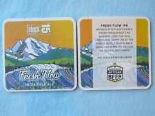 Beer Coaster ~ BLOCK 15 Brewery & Restaurant Fresh Flow IPA ~ Corvallis, OREGON