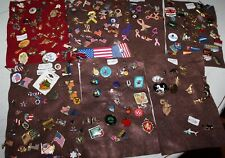Vintage to Modern Lapel Pins Huge Lot of 300 + Pins, Mixed Jewelry, Charms, Pin