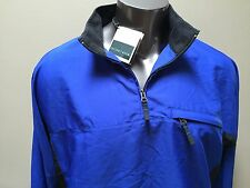 NWT Men's Sz Large Cutter & Buck Long Sleeve Golf Pullover Windbreaker Top Blue