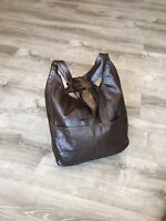 Wash Brown Leather Crossbody Hobo Bag, Shoulder Purse, Women Bags and Purses
