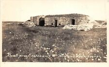 E26/ Louisbourg Cape Breton Nova Scotia Canada RPPC Postcard Bombroof Casements