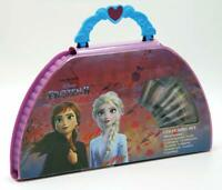 Disney Frozen Kids 48 Piece Art & Craft Carry Case Drawing Paint & Colouring Set
