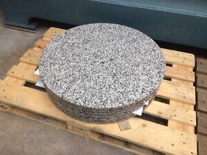 rund Tischplatte Stein