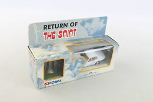 Boxed CORGI Return Of The Saint Jaguar XJS Diecast Model & Saint Figure No.57404