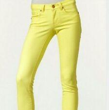 CAbi STYLE# 760 Limon Bree Yellow Cropped Capri Crop Skinny Jeans Pants Size 2