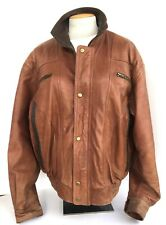 Vintage Weekends Genuine Leather Bomber Snap Buttons Jacket