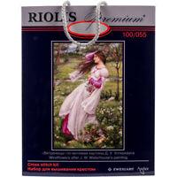 NEW UNOPENED Russian Counted Cross Stitch KIT Riolis Premium 100055 Windflowers