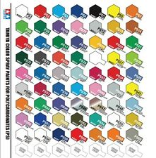 SALE - TAMIYA PS Spray Paint for Lexan Polycarbonate(Select your colour)
