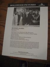 Hollywood Pictures Press Sheet Preview w/ Photo 1999 - Mystery Alaska