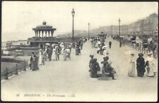 The Promenade, Brighton. 1910 Vintage LL (21) Postcard. Free UK Postage
