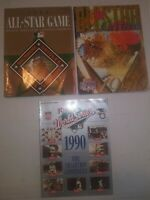 1993 + 1996 MLB All Star Game Program Lot Orioles Phillies + 1990 World Series