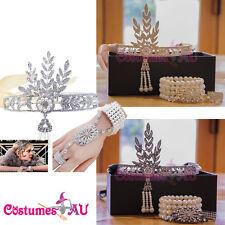 20s Headband Bracelet Ring Set Vintage Bridal Great Gatsby Costume Accessories