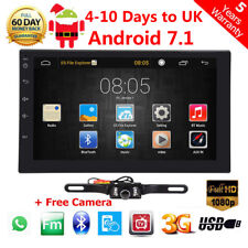 """7"""" 2DIN Quad Core Android 7.1 3G WIFI Double Car Radio Stereo MP5 Player Nav BT"""