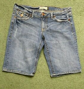 Old Navy womens shorts ultra low ride stretch 8 waist 34 inseam 12 distressed