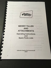 Merry Tiller Rotovator & Attachments Complete set of manuals - 89 Pages