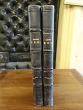 Galleria Biblica 1842 2 volumes Gravures Illustré Plein Chagrin Italien