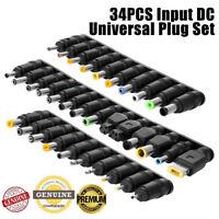 34pcs Laptop Notebook Input DC Universal Plug Set Jack Tip 4 AC Adapter Charger