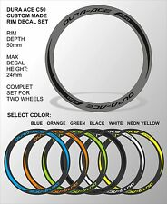 DURA ACE C50 2014 RIM DECAL SET  FOR TWO WHEELS SELECTABLE COLOR