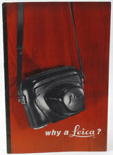 Leica Camera Sales Brochure 1956 Why A Leica?  Advertising - M3 Vintage