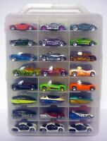 HOT WHEELS 48 CAR CARRY CASE WITH CARS Futuristic Die-Cast Cars