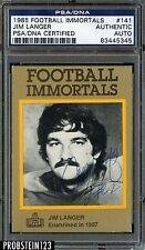 1985 Football Immortals Jim Langer Signed AUTO PSA/DNA AUTHENTIC STOCK PHOTO