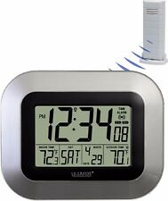 WS-8115U-S La Crosse Technology Atomic Digital Wall Clock IN/OUT Temp TX38U-IT-N