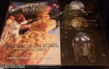 STAR WARS COOKBOOK WOOKIE PIES CLONE SCONES GALACTIC GOODIES & 3 COOKIE CUTTERS