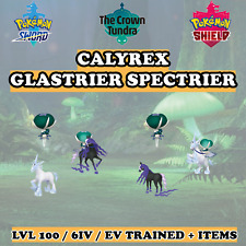 👑 Calyrex Glastrier Spectrier 👑 6IV Pokemon Sword and Shield Home Crown Tundra