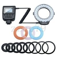 Macro LED Ring Flash Light For Canon Nikon Olympus Panasonic Pentax Camera