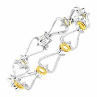 1/10 ct Diamond Miracle Bracelet in 14K Gold-Plated Sterling Silver