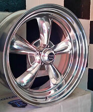 "20""  AMERICAN RACING POLISHED TORQ THRUST II SUIT FORD, HQ, CHEV AND USA CARS"