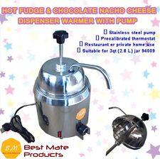 B.M GM-280 HOT FUDGE CHOCOLATE NACHO CHEESE DISPENSER WARMER WITH PUMP+2.8L Can
