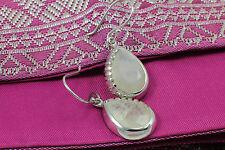 Wholesale Price, Sterling Silver Teardrop Rainbow Quartz Gemstone Drop Earrings
