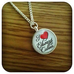 Twilight  MINI I love Edward pendant necklace