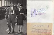 Gina Lollobrigida. Fotografía  3 SEP 1961 Gina y su marido Milko Skofic.