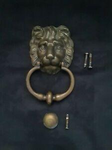 MXDLSM Front Door Knocker Lion Head Antique Handle Door Knocker Accessories Cabinet Cupboard Door Kitchen Furniture Antique Pull Handle Knob 74x45mm Door Knocker