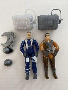 Gi Joe Vintage 1990 Sky Patrol Lot Accessories Hasbro Arah Drop Zone Skydive