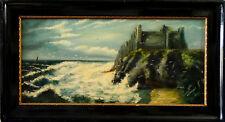 A.Bavmann 1911 Antike Ölgemälde Schloss am Meer Schöneswerk signiert datiert